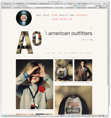 American Outfitters website screenshot