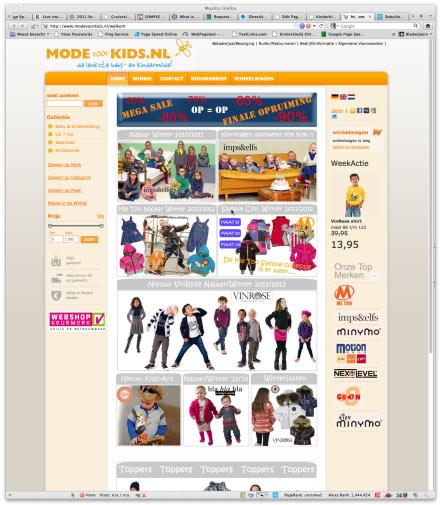 Bezoek webwinkel Modevoorkids.nl