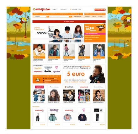 screenshot Kleertjes website